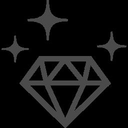 ダイヤモンドのフリーアイコン